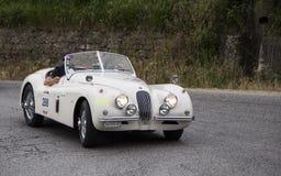 Automobile scoperta a due posti 1953 di JAGUAR XK 120 OTS Immagine Stock