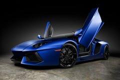 Automobile scoperta a due posti 2015 di Lamborghini Aventador LP 700-4 Fotografia Stock