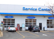 Car Service Center. For fast oil changes, safety check, car wash, and maintenance and repair Stock Photo