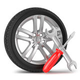 Automobile service concept. On white background Stock Image
