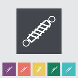Automobile shock absorber flat single icon. Vector illustration Royalty Free Stock Photography