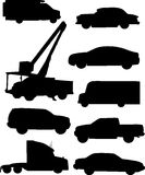 Automobile Silhouettes Stock Photos