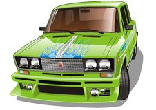 Automobile sintonizzata vettore royalty illustrazione gratis