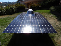 Automobile solare di CalSol Uc Berkeley su visualizzazione alla fiera Fotografia Stock