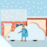 Automobile sotto neve Immagine Stock Libera da Diritti