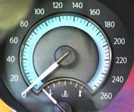 Automobile speedmeter. Closeup of automobile speed meter Royalty Free Stock Photos