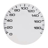 Automobile speedmeter. Scale of an automobile speedmeter. The image is isolated on a white background. The picture is convenient for correction Royalty Free Stock Photo