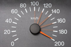 Automobile speedometer Stock Photo