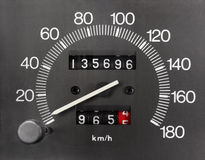 Automobile Speedometer and Odometer Royalty Free Stock Images