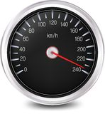 Automobile Speedometer. Vector Royalty Free Stock Photo