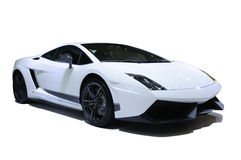 Automobile sportiva bianca Fotografia Stock Libera da Diritti