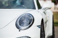 Automobile sportiva bianca Immagini Stock