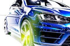 Automobile sportiva blu Fotografia Stock Libera da Diritti