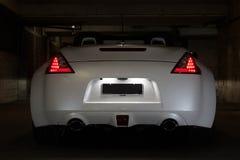 Automobile sportiva convertibile bianca Fotografia Stock
