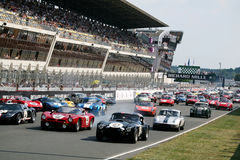 Automobile sportiva, corsa classica 24h della le Mans Immagini Stock
