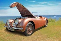 Automobile sportiva d'annata del giaguaro xk120 Immagini Stock Libere da Diritti