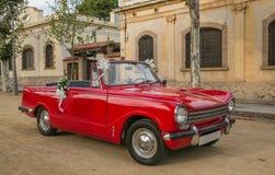 Automobile sportiva decorata per le nozze Fotografia Stock Libera da Diritti