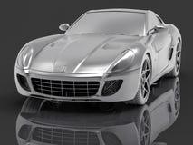 automobile sportiva dell'argento 3D Fotografia Stock Libera da Diritti