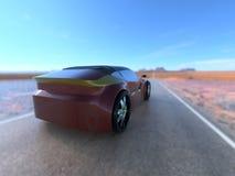Automobile sportiva di concetto 2 Immagini Stock