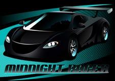 Automobile sportiva di mezzanotte nera del corridore Fotografia Stock Libera da Diritti