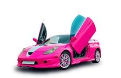 Automobile sportiva di sintonia giapponese con le porte di lambo Priorità bassa bianca Immagini Stock Libere da Diritti