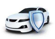 Automobile sportiva e schermo Fotografia Stock