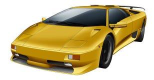 Automobile sportiva gialla Illustrazione Vettoriale