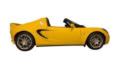 Automobile sportiva gialla Immagine Stock