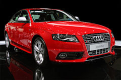 Automobile sportiva isolata - Audi S4 Fotografia Stock Libera da Diritti
