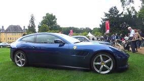Automobile sportiva italiana del grande Tourer di Ferrari GTC4 Lusso stock footage