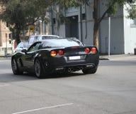 Automobile sportiva lucida & nera Fotografia Stock