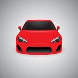 Automobile sportiva lucida rossa di vettore Immagini Stock