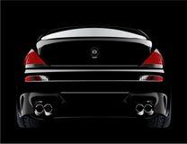 Automobile sportiva modificata europea del bmw m6 nel nero Fotografia Stock Libera da Diritti