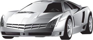 Automobile sportiva movente veloce di lusso Immagini Stock Libere da Diritti