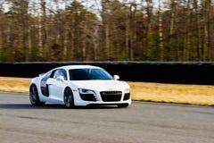 Automobile sportiva nel movimento Fotografia Stock Libera da Diritti