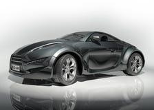 Automobile sportiva nera Immagine Stock