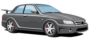 Automobile sportiva nera Fotografia Stock