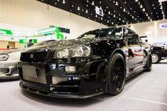 Automobile sportiva nera Fotografia Stock Libera da Diritti
