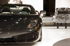 Automobile sportiva nera Immagine Stock Libera da Diritti