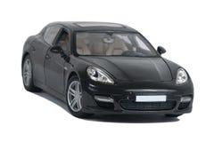 Automobile sportiva nera Turbo Fotografie Stock Libere da Diritti