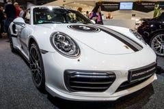 Automobile sportiva Porsche 911 Turbo S, 2016 Fotografia Stock Libera da Diritti