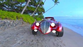 Automobile sportiva rossa Immagine Stock Libera da Diritti