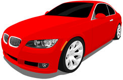 Automobile sportiva rossa illustrazione di stock