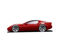 Automobile sportiva rossa royalty illustrazione gratis