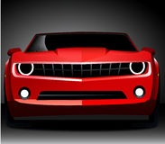 Automobile sportiva rossa di camaro della Chevrolet Fotografia Stock
