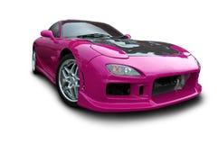 Automobile sportiva rosso magenta immagini stock libere da diritti