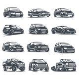 Automobile sportiva set4 illustrazione vettoriale