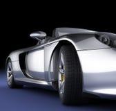 Automobile sportiva in studio fotografia stock