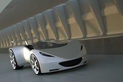 Automobile sportiva in tunnel fotografie stock libere da diritti