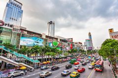 Automobile stopper of Bangkok Stock Images